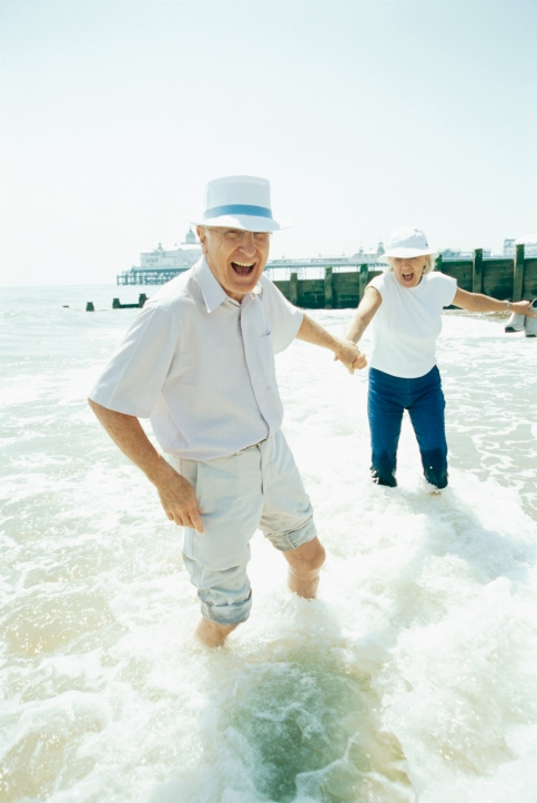 seniors en la playa